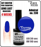 hybrydowy - GEL Polish - Soak Off - Admiral 15ml (no. 230)
