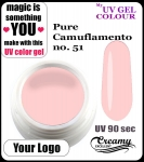 żel kolorowy UV color Gel 5 ml - 51 - pure camuflamento