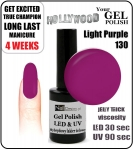 hybrydowy - GEL Polish  - light purple 15ml (no. 130)