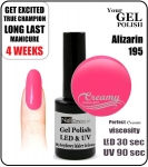 hybrydowy - GEL Polish - Soak Off - alizarin 8ml (no. 195)