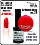 hybrydowy - GEL Polish - Soak Off - ardente rosa 8ml (no. 29)