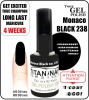 hybrydowy - GEL Polish - Soak Off - Monaco Black 15ml (no. 238)