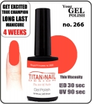Hybrydowy lakier - GEL Polish 8ml- soak off - Royal Princess (no. 266)