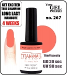 Hybrydowy lakier - GEL Polish 8ml- soak off - Royal Majestic (no. 267)