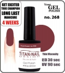 Hybrydowy lakier - GEL Polish 8ml- soak off - Royal Queen (no. 268)