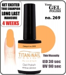 Hybrydowy lakier - GEL Polish 8ml- soak off - Royal Daiquiri (no. 269)