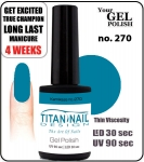 Hybrydowy lakier - GEL Polish 8ml- soak off - Royal Kamikaze (no. 270)