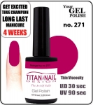 Hybrydowy lakier - GEL Polish 8ml- soak off - Royal Margarita (no. 271)